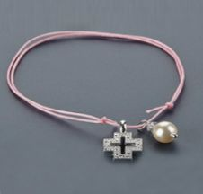 Witness pins bracelets with a pearl 50pcs / Μαρτυρικά βραχιολάκια με πέρλα 50τμχ